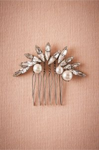 BHLDN Silver Crystal Ivy Comb Hair Accessory
