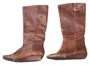 Steve Madden Brown Leather Cognac Boots