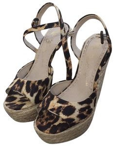 Alice + Olivia Leopard Wedges