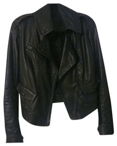 Donna Karan Leather Moto Leather Jacket