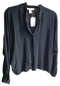 Forever 21 Woven Shirt Top Black