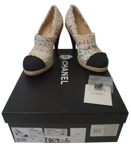 Chanel Limited Edition Espadrilles Flats Espadrilles Classic graffiti, multicolor, white Pumps