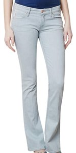 Mother Denim Light Wash Skinny Flare Boot Cut Jeans-Light Wash