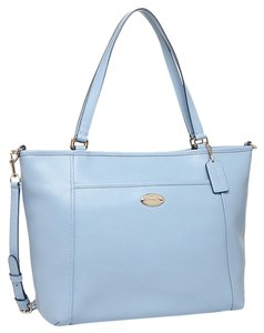 Coach Light Two Straps Tote in Pale Blue
