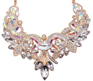 Other Womens Colorful Rhinestone Crystal Queen Costume Jewelry Bib Statement Necklace