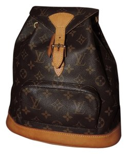 Louis Vuitton Labels Petite Printed Fashionable Classic Day Night Casual Dressy Backpack