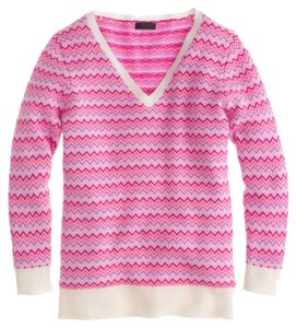 J.Crew Collection Cashmere Zigzag Chevron Sweater