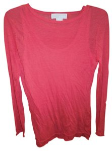 Michael Kors Long Sleeve Cami Top Coral