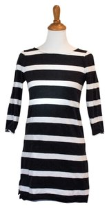 J.Crew short dress Black and White Summer on Tradesy