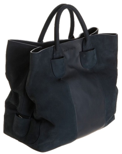 Preload https://img-static.tradesy.com/item/10741300/carven-large-convertible-black-leather-and-suede-tote-0-1-540-540.jpg