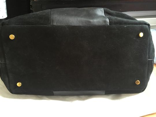 Carven Leather Suede Convertible Tote in Black Image 2