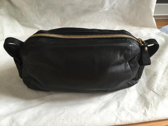 Carven Leather Suede Convertible Tote in Black Image 3