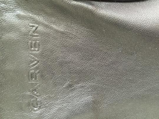 Carven Leather Suede Convertible Tote in Black Image 4