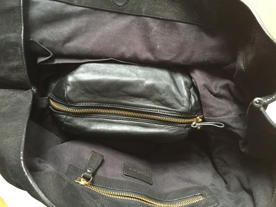 Carven Leather Suede Convertible Tote in Black Image 5