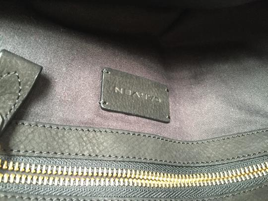 Carven Leather Suede Convertible Tote in Black Image 6