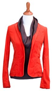 Theory Corduroy Orange Blazer