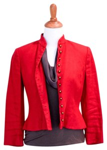 Lauren Ralph Lauren Brass Buttons Military Style Red Jacket