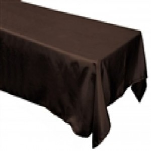 Black Satin Tablecloths In Package Reception Decoration