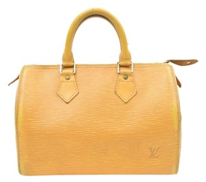 Louis Vuitton Speedy 25 Satchel in Yellow