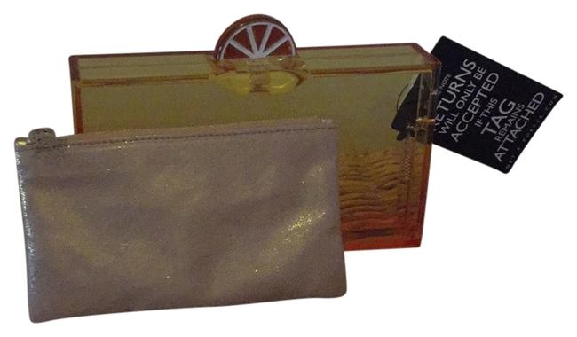 Item - Cocktail Pandora Orange and Yellow Ombre Perspex Clutch