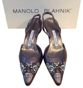 Manolo Blahnik Brown/bronze Pumps