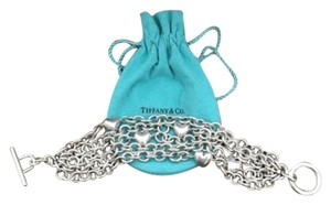 Tiffany & Co. Tiffany & Co. Multi Strand Heart Link Toggle Bracelet