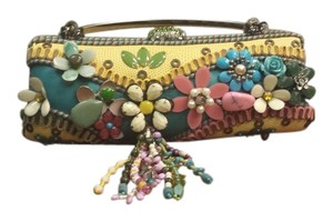 Mary Frances Leather Beaded Shoulder Bag