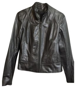 New York & Company Vintage Faux Leather Motorcycle Jacket