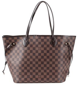 Louis Vuitton Mm Medium Damier Ebene Canvas Neverfull Tote in Brown