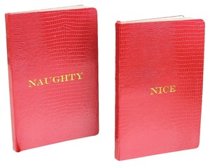 D.L.& Co. Red 'Naughty/Nice' Large Journal