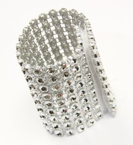 Bling Lot Of 100 Rhinestone Velcro Napkin Ring Or Sash Clip Ceremony Decoration