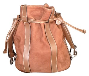 Lancel Classic Leather Bucket Shoulder Bag