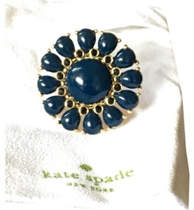 Kate Spade KATE SPADE Navy Flower Cocktail Ring