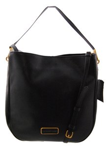 Marc by Marc Jacobs Hob Leather Satchel in Black