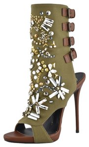 Giuseppe Zanotti Brown / Olive Green Sandals
