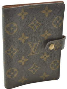 Louis Vuitton Authentic Louis Vuitton Monogram Agenda PM Day Planner Cover R20005 LV