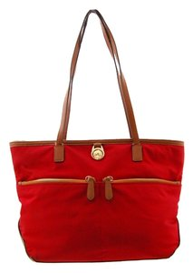 Michael Kors Nylon Tote in Chilli-Red