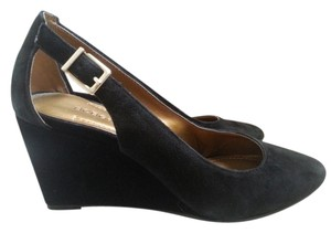 BCBGeneration Bcbg Leather New Black Wedges