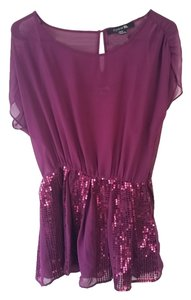 Forever 21 21 Sequins Metallic Cute Tunic