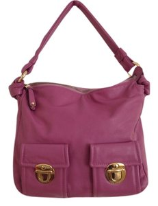 Marc Jacobs Rosy Calf Leather Hobo Bag