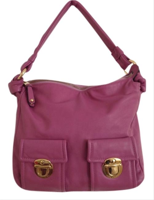 Item - Purple/ with Gold Hardware Purple/ Rosy Calf Leather Hobo Bag