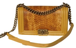 Chanel Boy Python Boy Python Flap Shoulder Bag