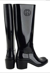 Gucci Nero Rubber Black Boots