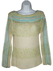 Anthropologie Fuzzy Mohair Airy Ribbons Sweater
