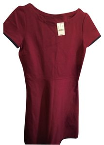 J.Crew short dress Maroon with navy trim on Tradesy
