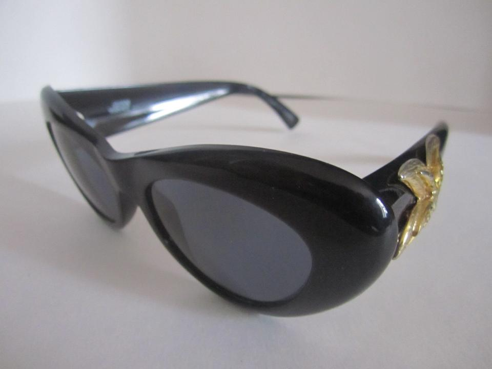 bcec7b0a6d2 Versace Black with Gold Accents Gianni Rare Starfish Mod 376 Mint ...