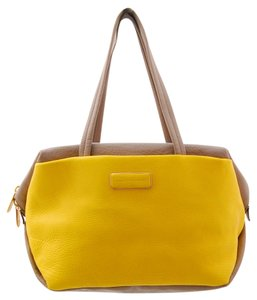 Marc Jacobs Leather Tote in Gray/Yellow