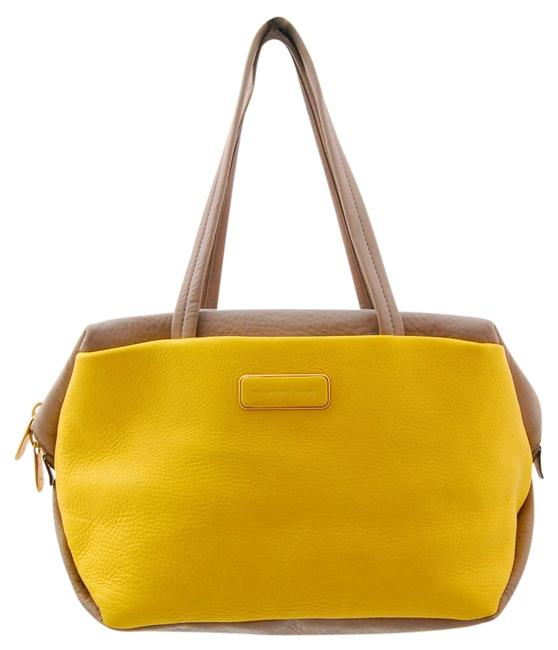Item - Bag Gray/Yellow Leather Tote