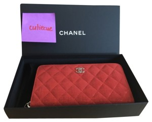 Chanel Chanel Red Zip Wallet