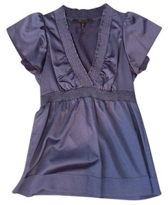 BCBGMAXAZRIA Top Blue/gray